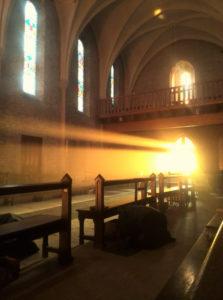 rayon de soleil dans la chapelle de Rimont 3