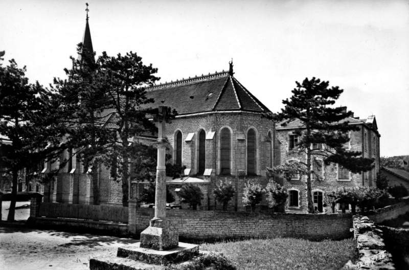 chapelle de Rimont en noir et blanc
